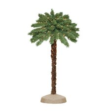 "48"" Green Tropical Artificial Christmas Tree with 105 Pre-Lit Clear Lights"
