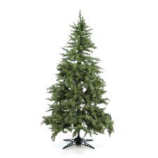 "77"" Green Evergreen Fir Artificial Christmas Tree with 450 Pre-Lit Clear Lights"