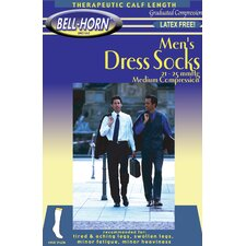 Men's Executive 20-30 mmHg Stripes Sock in Black