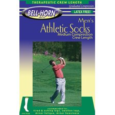 Men's 20-30 mmHg Athletic Sock in White