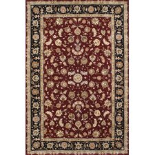 <strong>American Home Rug Co.</strong> Premier Burgundy/Black Rug