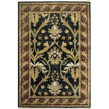 American Home Classic Arts & Crafts Black/Burgundy Rug