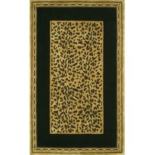 African Safari Gold/Black Cheetah Print Rug