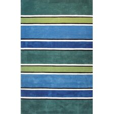 Beach Rug Tropic Multi Ocean Stripes Rug