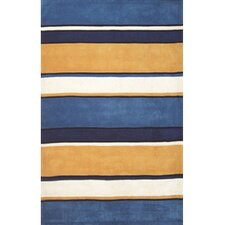 <strong>American Home Rug Co.</strong> Beach Rug Sunny Blues Multi Ocean Stripes Rug