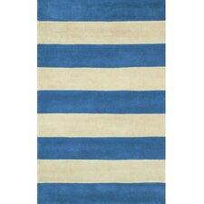 <strong>American Home Rug Co.</strong> Beach Rug Blue/Ivory Boardwalk Stripes Rug