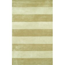 Beach Rug Sand/Ivory Boardwalk Stripes Rug
