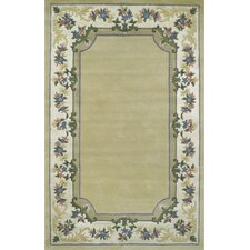 <strong>American Home Rug Co.</strong> Beautiful Border Pale Yellow/Ivory Floral Border Rug