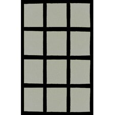 Bright Rug Window Blocks Grey/Black Rug