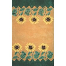 Bright Rug Sunflower Novelty Rug