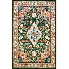 Bucks County Heriz Emerald Green/Ivory Rug