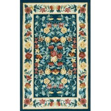 <strong>American Home Rug Co.</strong> Bucks County Floral Garden Navy/Ivory Rug