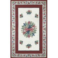 Bucks County Tulip Ivory/Dark Rose Rug