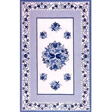 Bucks County Tulip Ivory/China Blue Rug