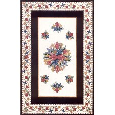 Bucks County Tulip Ivory/Black Rug
