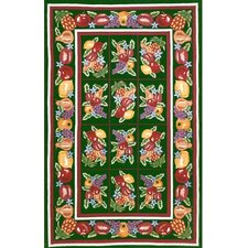 Bucks County Fruit Pettipoint Emerald Green Rug