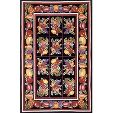 Bucks County Fruit Pettipoint Black Rug