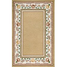 Bucks County Beige/Ivory Border Rug