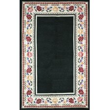 <strong>American Home Rug Co.</strong> Bucks County Black/Ivory Border Rug