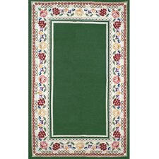 Bucks County Emerald Green/Ivory Border Rug