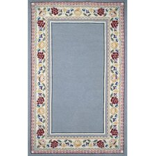 Bucks County Light Blue/Ivory Border Rug