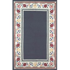 Bucks County Navy/Ivory Border Rug