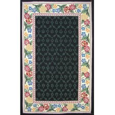 Bucks County Black/Ivory Damask Rug