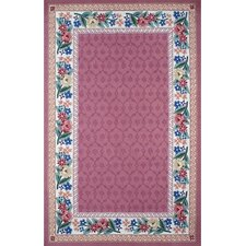 Bucks County Rose/Ivory Damask Rug