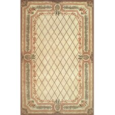 Cape May Beige/Brown Pineapple Aubusson Rug