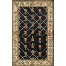 <strong>American Home Rug Co.</strong> Cape May Black/Ivory Pineapple Garden Rug