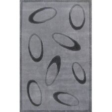 Casual Contemporary Grey/Black Le Cirque Rug