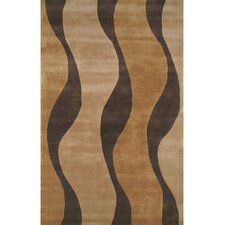 Casual Contemporary Gold/Brown Windsong Rug
