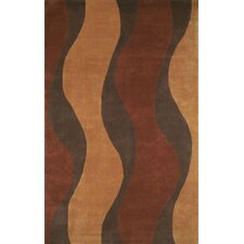 Casual Contemporary Rust/Brown Windsong Rug