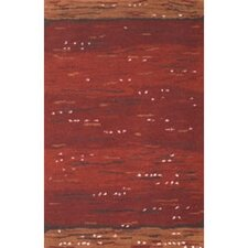 Casual Contemporary Rust Earth Valley Rug