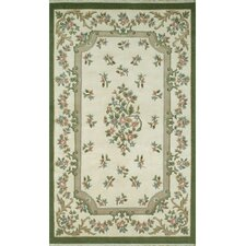 <strong>American Home Rug Co.</strong> French Country Aubusson Ivory/Emerald Floral Rug