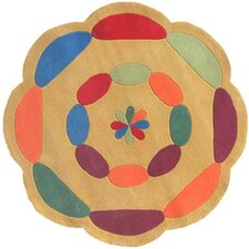 <strong>American Home Rug Co.</strong> Kiddie Yellow Carousel Kids Rug
