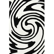 Modern Living Jazzy White/Black Rug