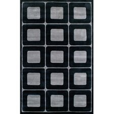<strong>American Home Rug Co.</strong> Modern Living Deco Blocks Black/Gray Rug