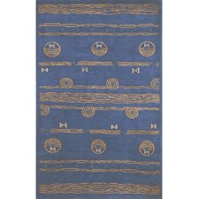 Neo Nepal Blue/Gold Ocean Vibes Rug