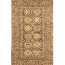 Village Brown/Peach Kazak Rug