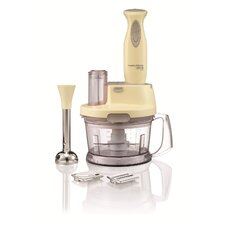 Mid Hand Blender and Processor with Serrator