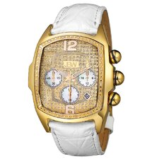 <strong>JBW</strong> Men's Ceasar Leather Watch in White