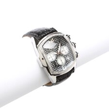 Men's Ceasar Watch in Black with Black Dial