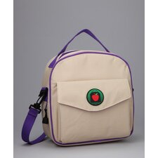 Lauren Placemat Lunch Bag in Tan / Purples with optional Lunch Sack