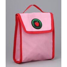 Alexandra Snack Bag in Pink / Red Trim and Liner