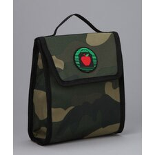 Ethan Snack Bag in Camo / Orange Trim and Liner