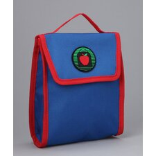 Jaydon Snack Bag in Blue / Red Trim and Liner