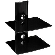 Bi-Shelf Wall Mount Bracket in Black