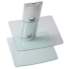 Bi-Shelf Wall Mount Bracket in Silver