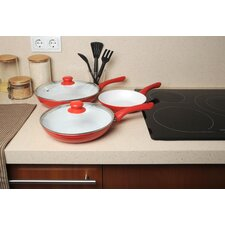 Ceramicore 3 Piece Non Stick Ceramic Pan Set with Lid
